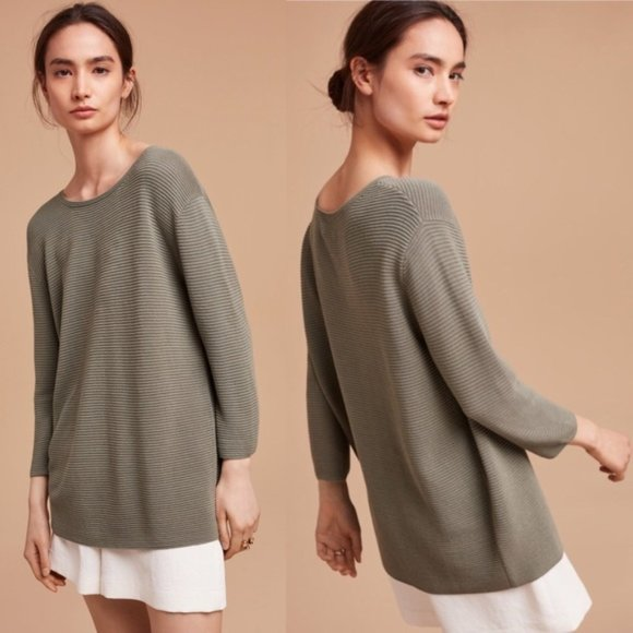 WILFRED Linen Ribbed Sweater